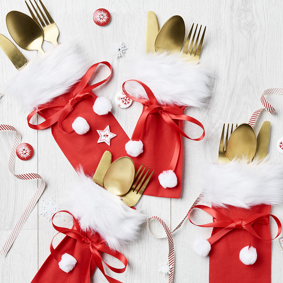 Santa Sack Cutlery Holders Project
