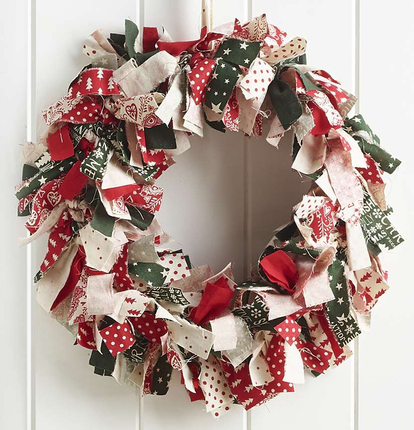 Scandi No Sew Wreath Project