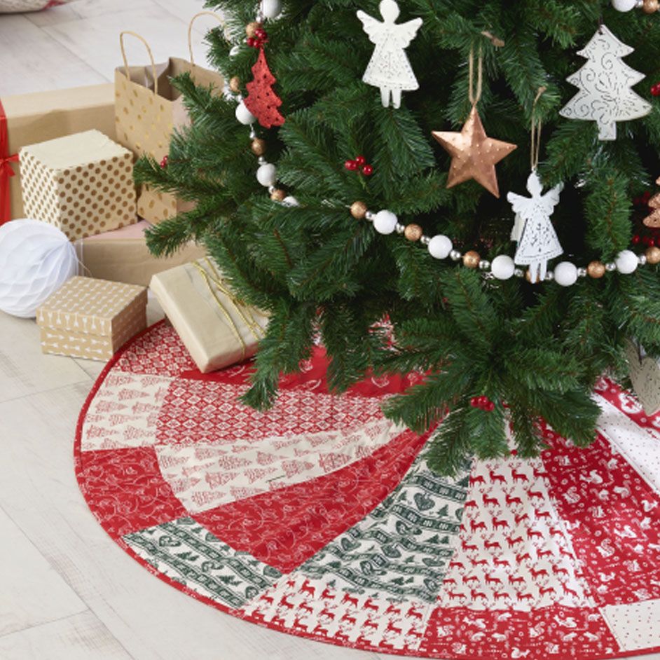 Scandi Quilted Tree Skirt Project