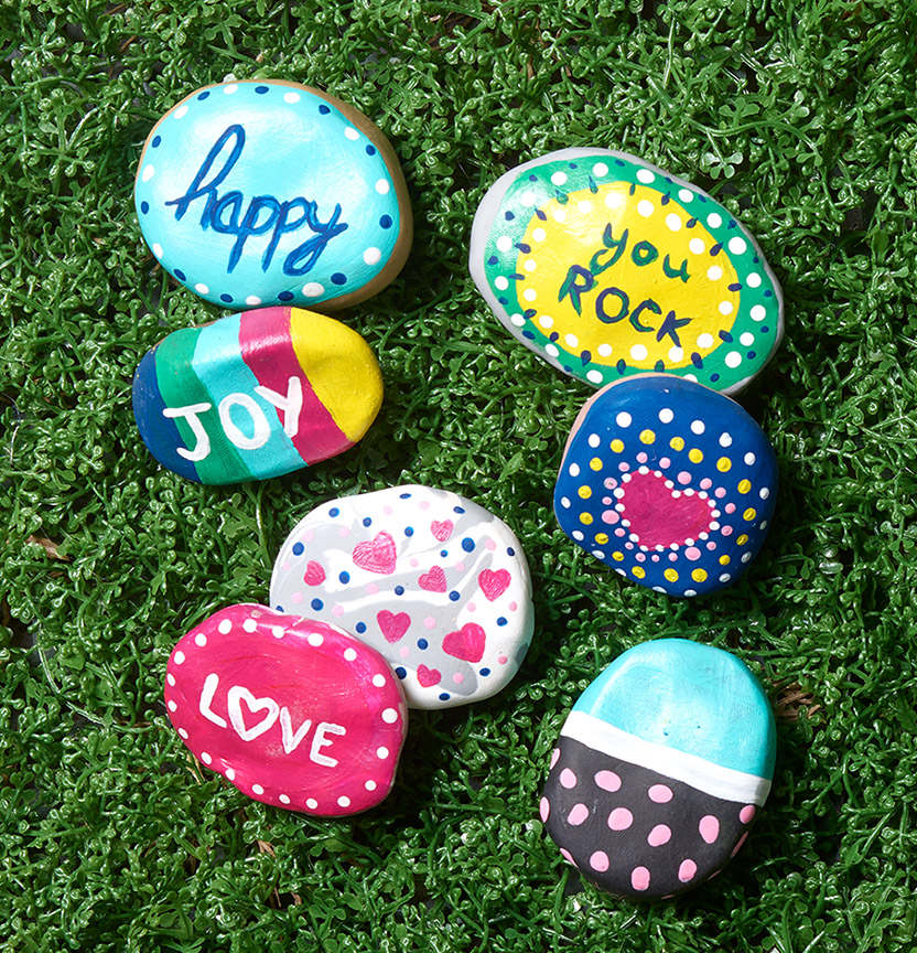 Sculpey Friendship Rocks Project