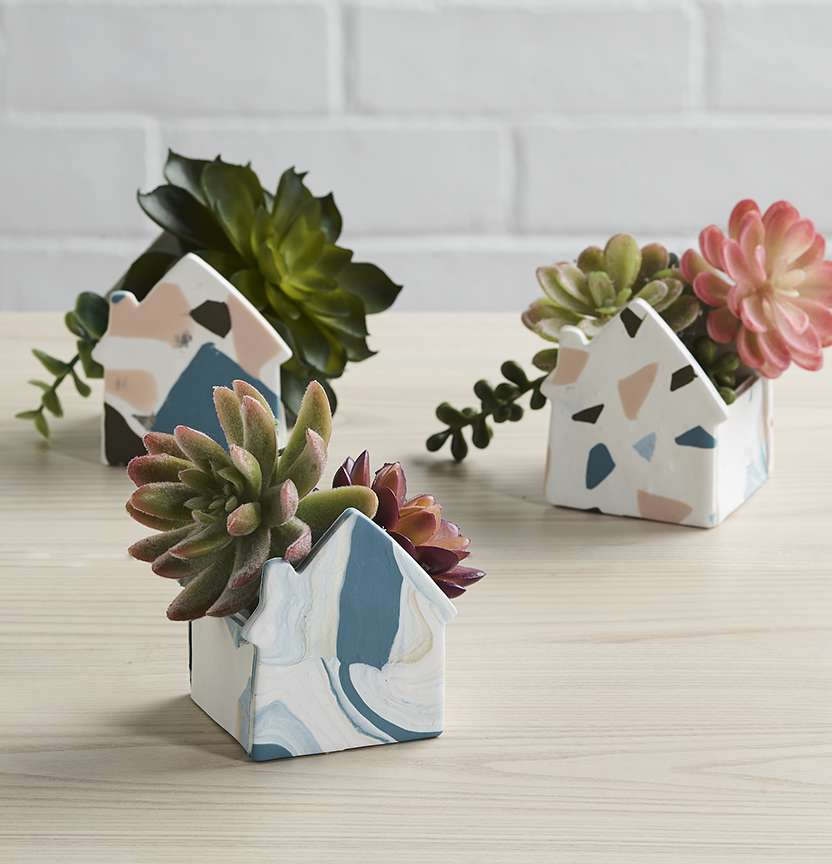 Sculpey Planters Project