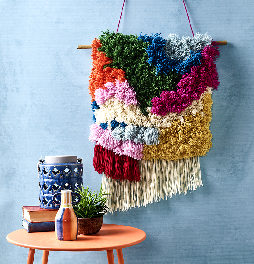 Shaggy Rya Wall Hanging Project