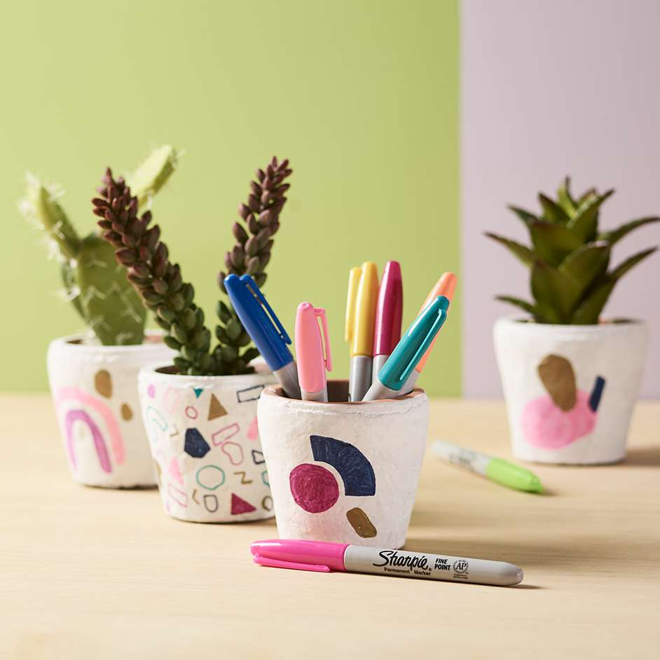 Sharpie Plant Pots Project