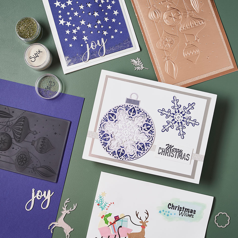Sizzix Christmas Cards Project