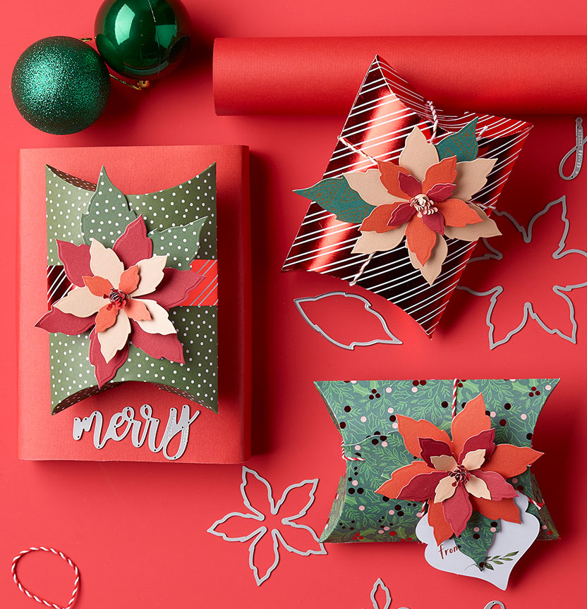 Sizzix Die Poinsettia Box Project