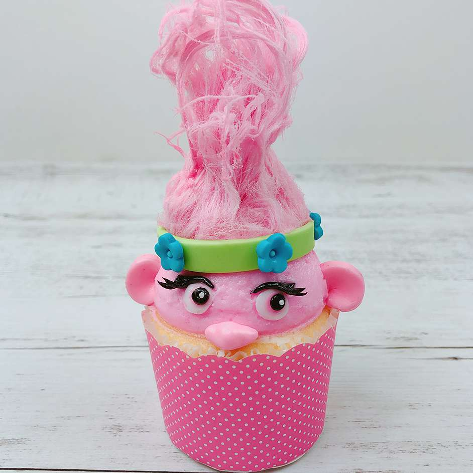 Slime Filled Troll Cupcake Project