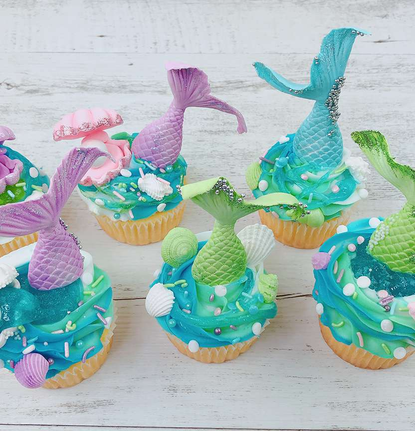 Slime Mermaid Cupcakes Project