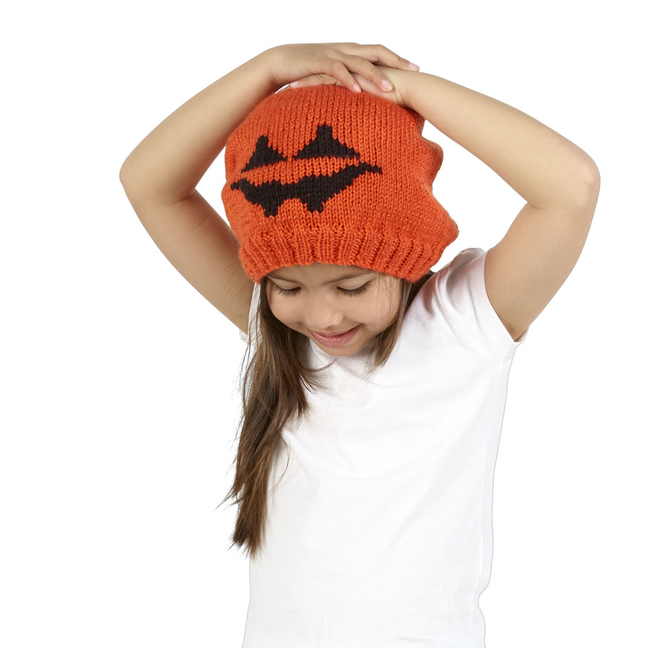 Spook 8Ply Pumpkin Beanie Project