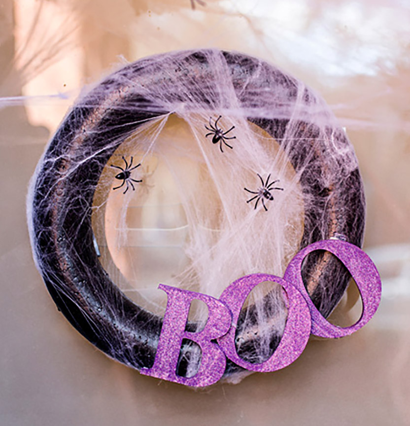 Spooky Boo Wreath Project