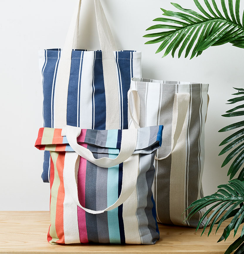 Striped Canvas Bags Project