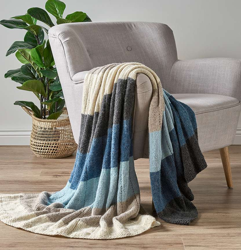 Striped Tolve Throw Project