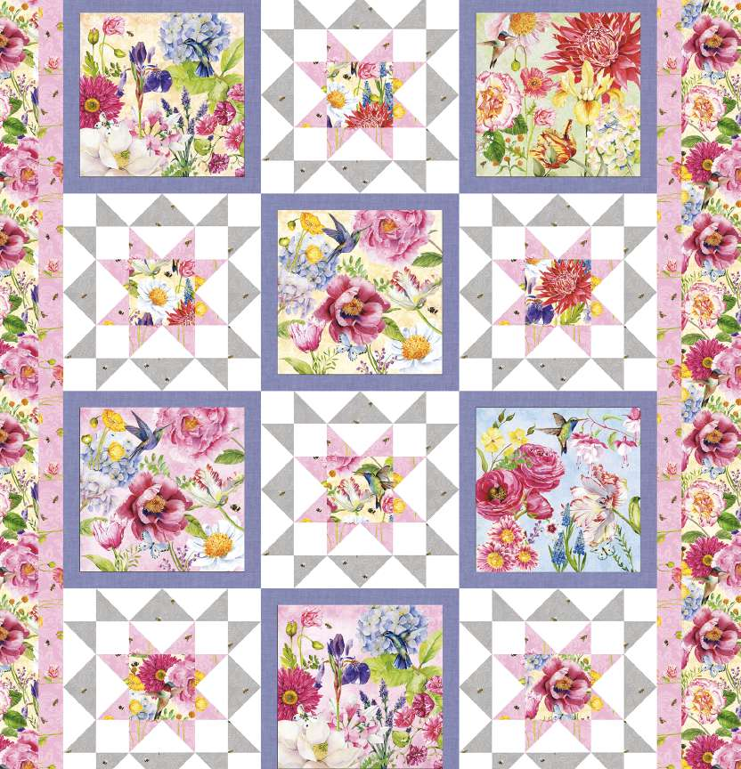 Studio E My Beautiful Garden Quilt Project