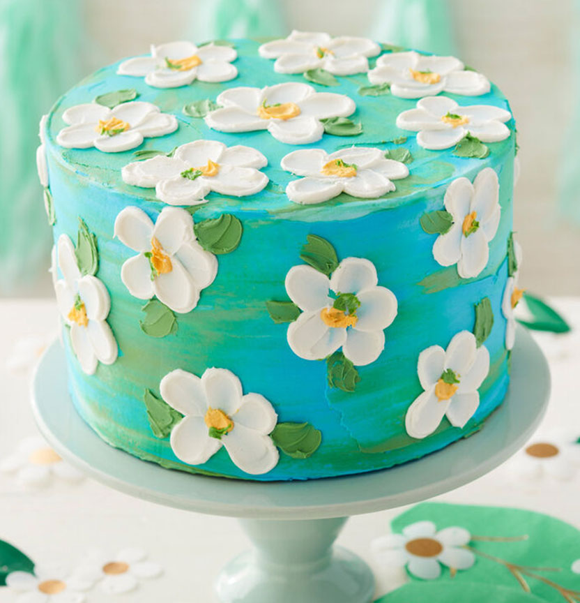 Summer Blooms Buttercream Flower Cake Project