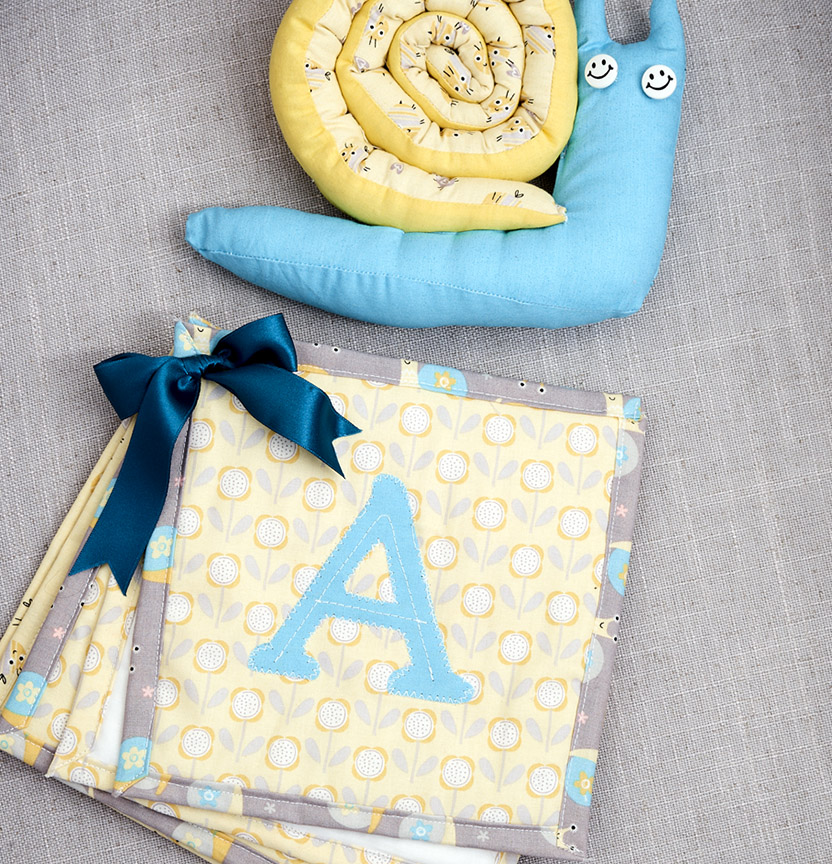 Sunny Nursery ABC Book & Snail Toy Project