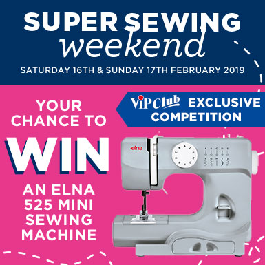 Super Sewing Weekend Competition 2019