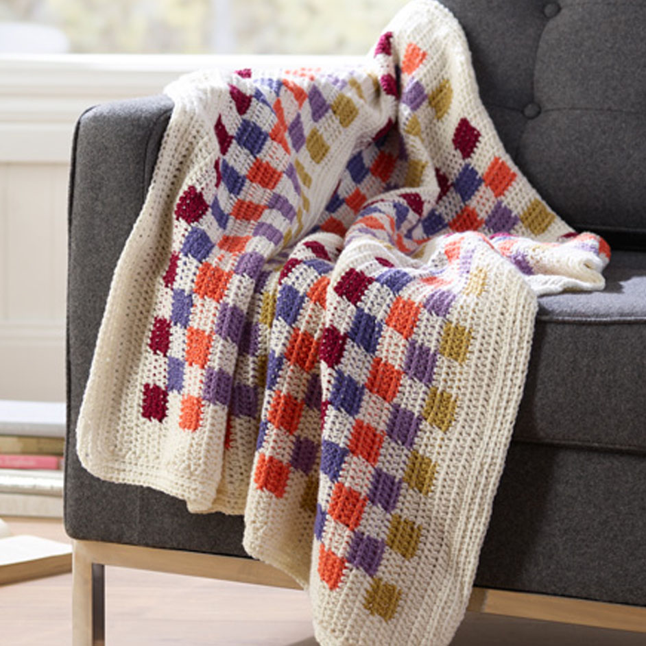 Superwash Geometric Throw Project