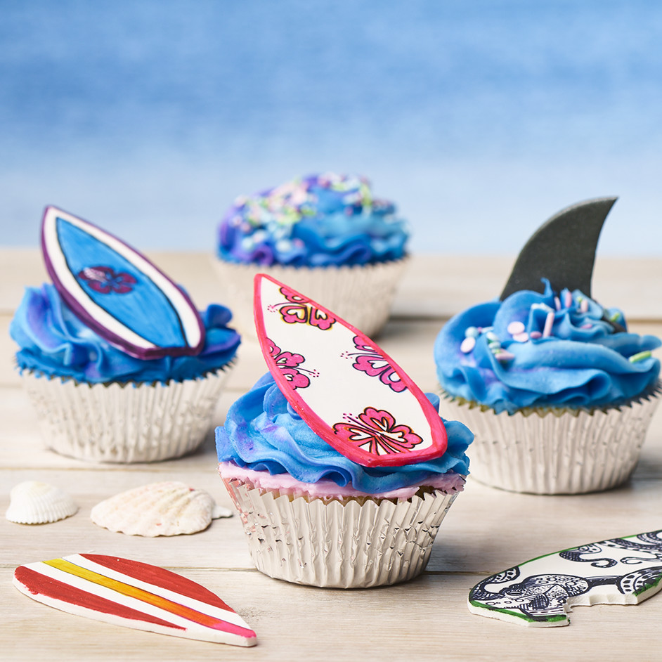 Surf Cupcakes Project