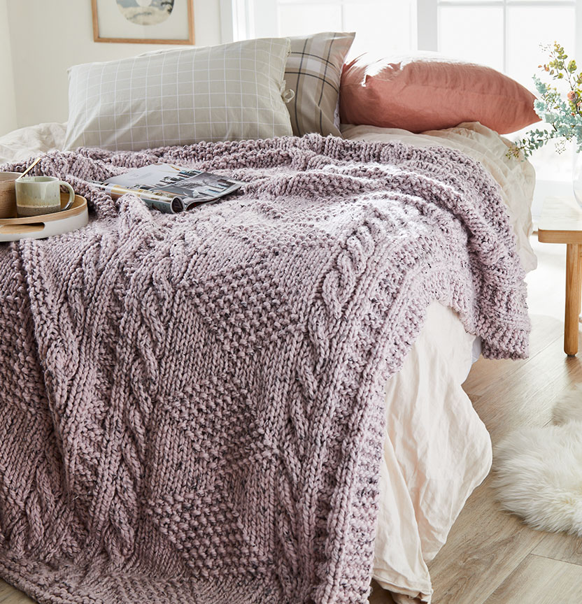 Textured Throw Project