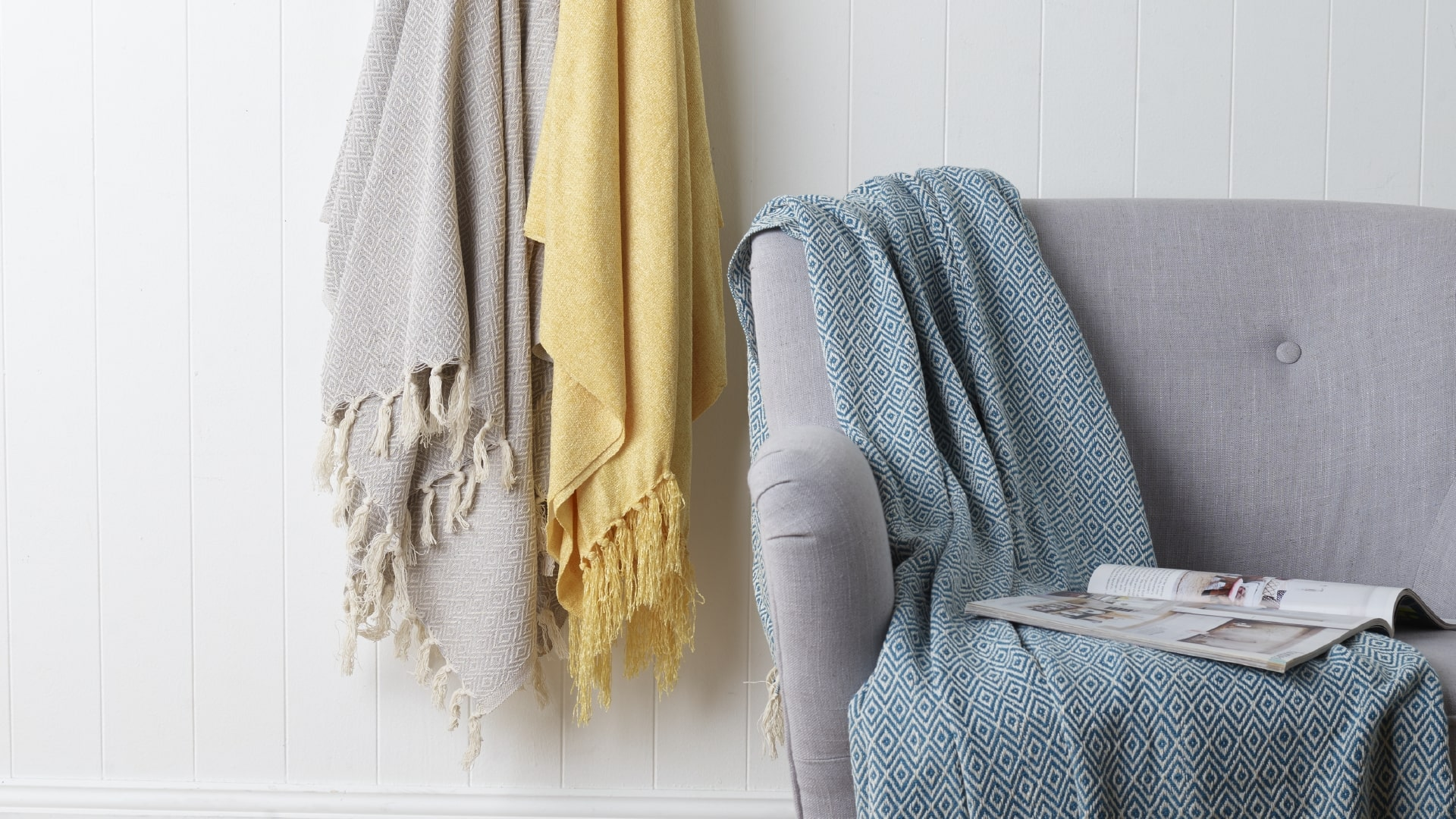 Decorate Using Throws & Blankets