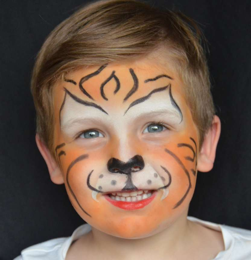 Tiger Face Paint Project