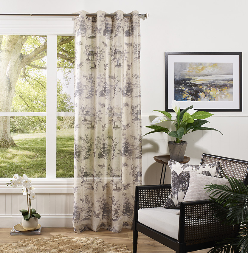 Toile Sheer Black Eyelet Curtain Project