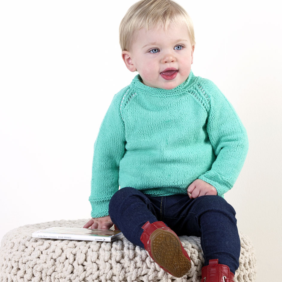 Tootgarook Baby Eyelet Jumper Project