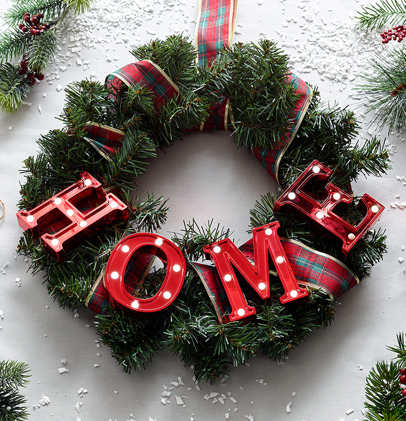 Traditional Home Wreath Project