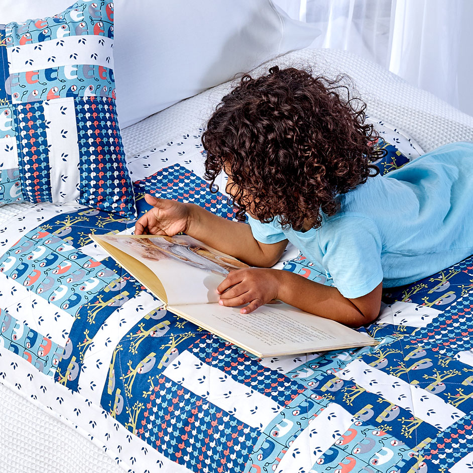 Trosko Sloth Kids Quilt & Cushion Project