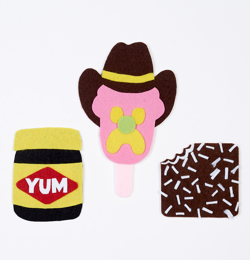 Tuckshop Felt Stickers By Kitiya Palaskas Project