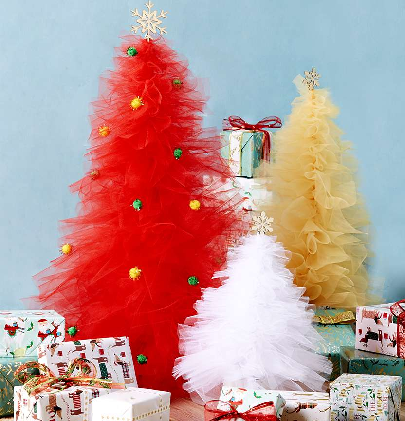 Tulle Christmas Trees Project