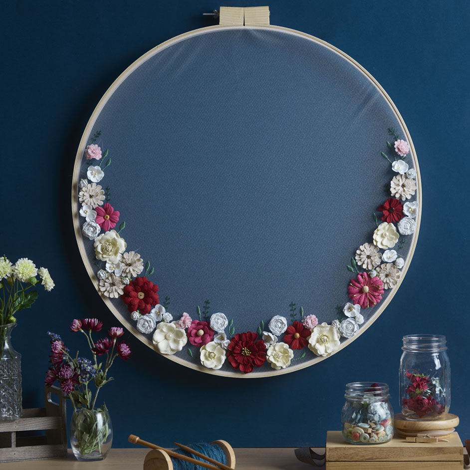 Tulle Embroidery Hoop Project