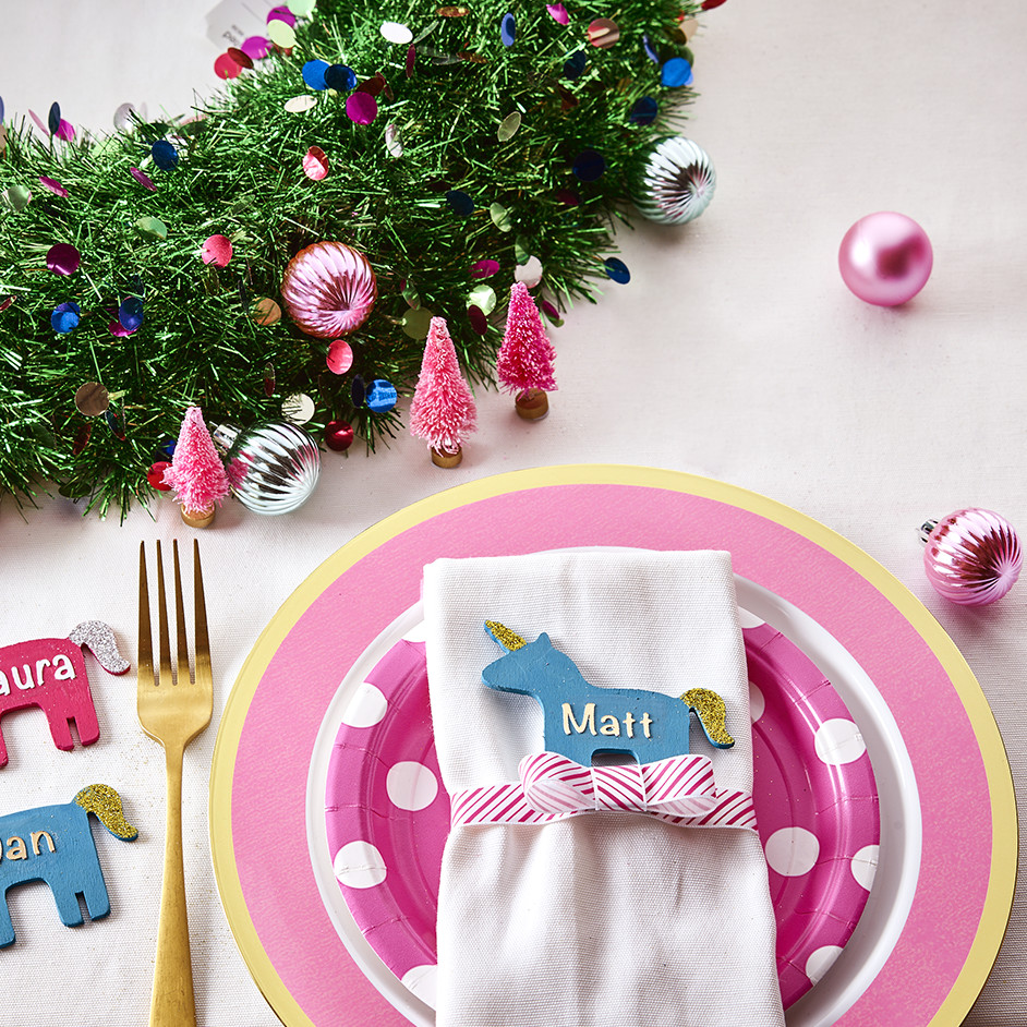 Unicorn Name Place Setting Project