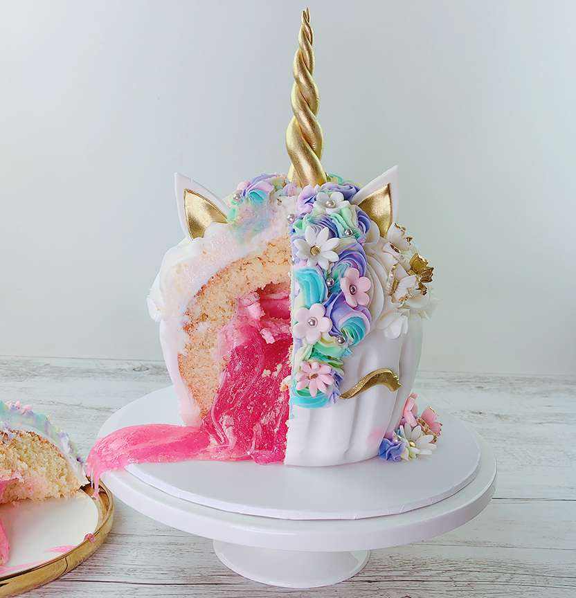 Unicorn Slime Cake Project