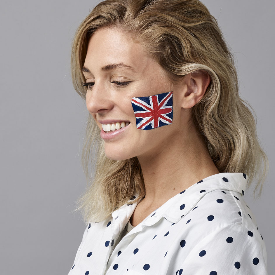 Union Jack Face Paint Project