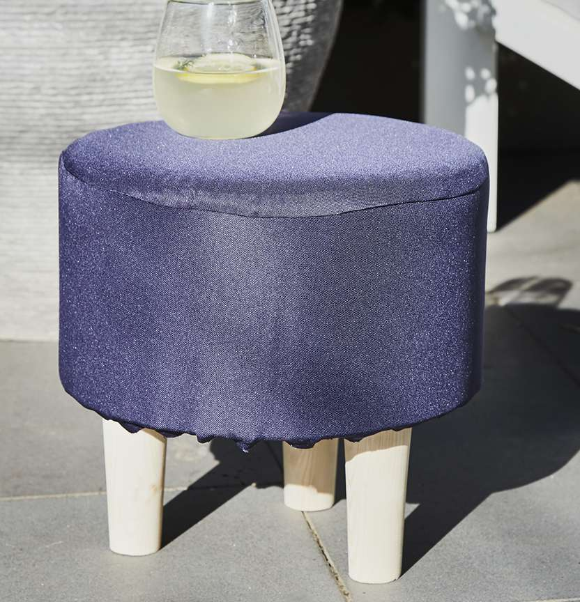 Upholstered Outdoor Stool Cover Project
