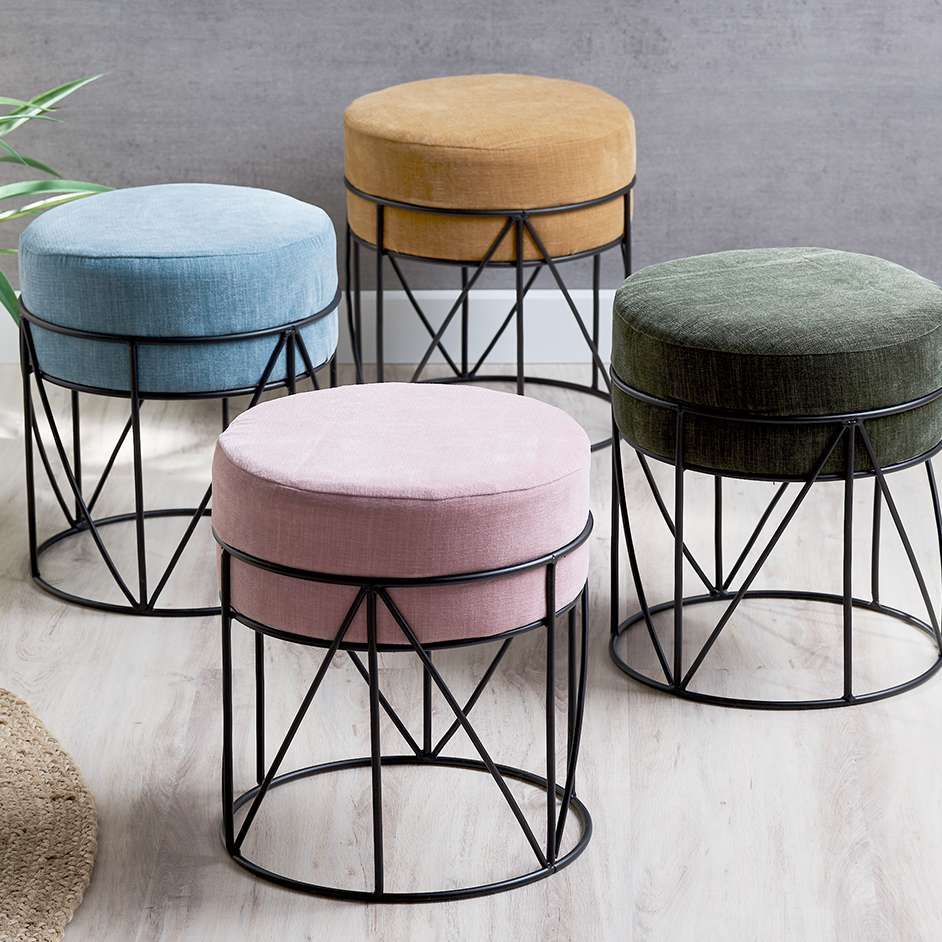 Velvet Stool Covers Project