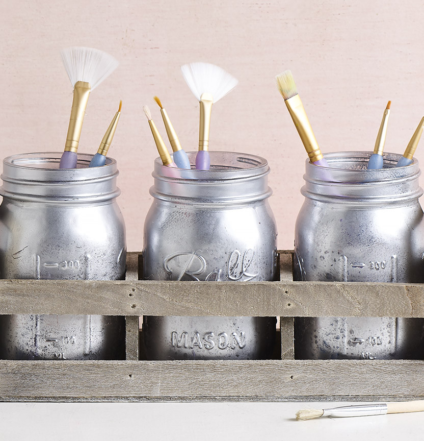 Vintage Paint Brush Holder Project