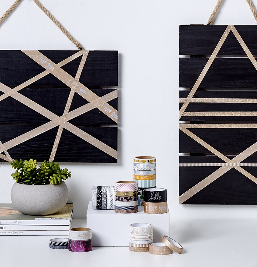 Washi Tape Wall Art Project