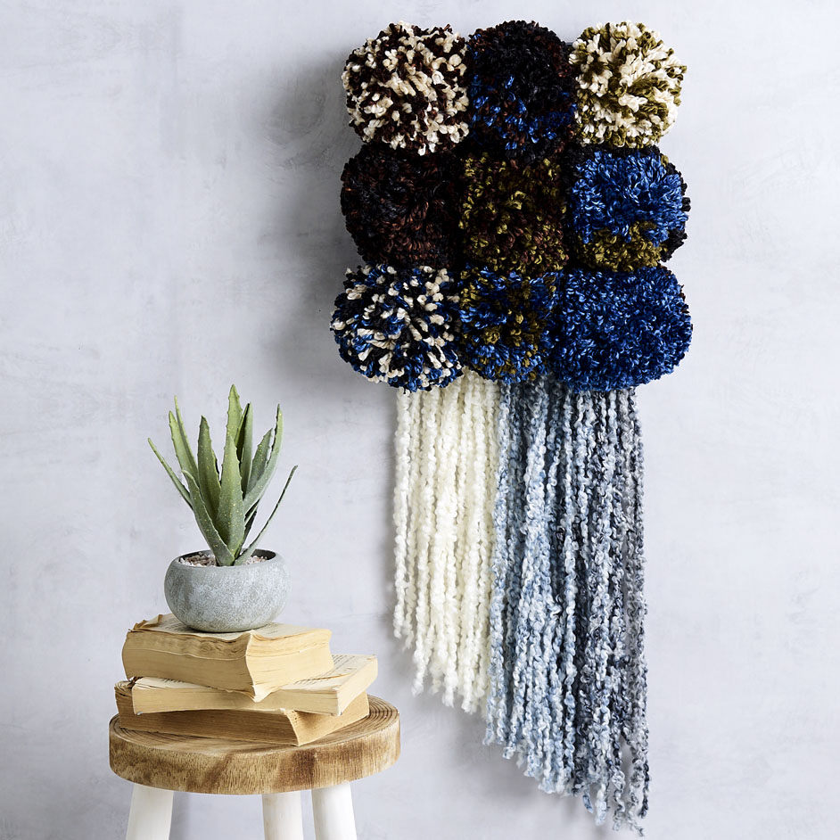 Wool Ease Thick & Quick Pom Pom Wall Hanging Project
