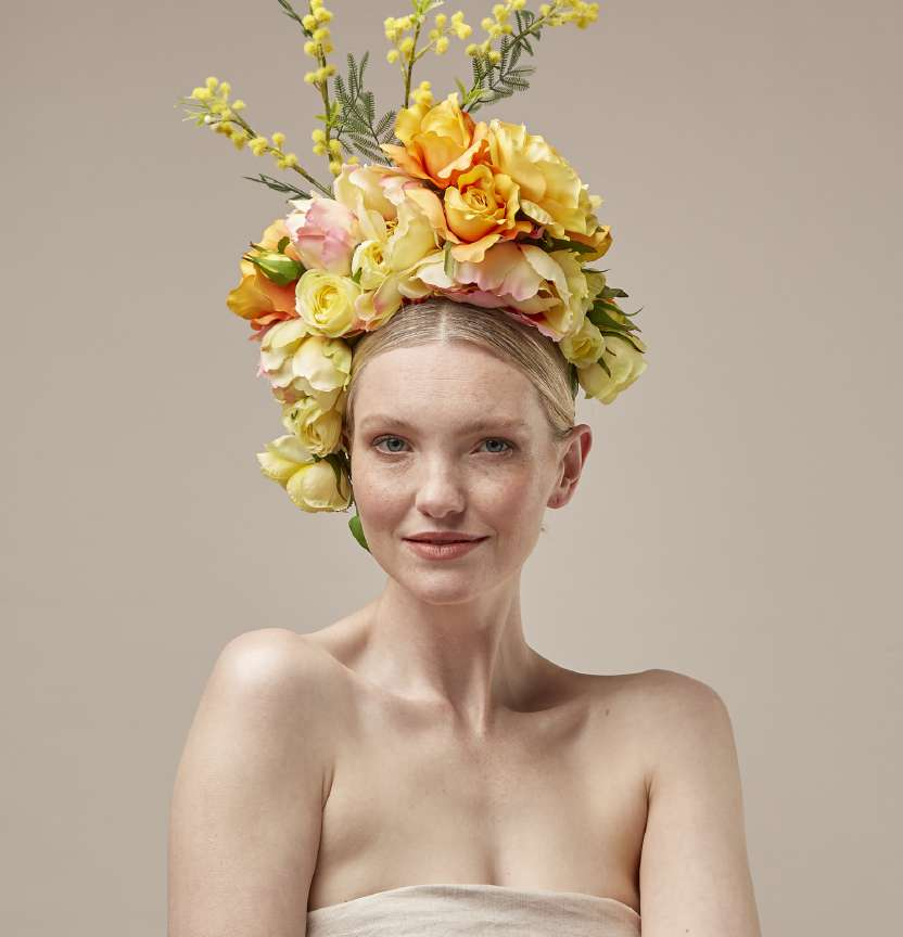 Yellow Floral Headpiece Project